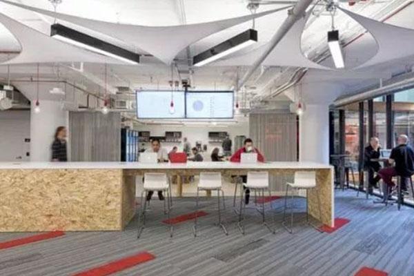 成都办公室装修吧台隔断设计