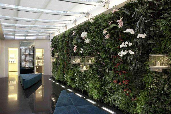 酒店装修自然元素设计装饰墙