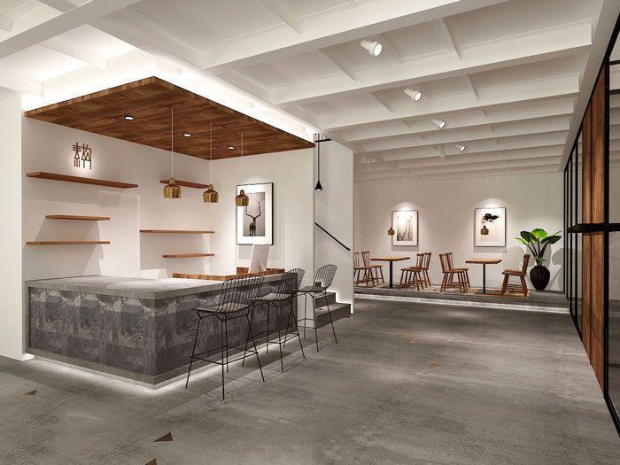 简洁型吧台、茶水台装修