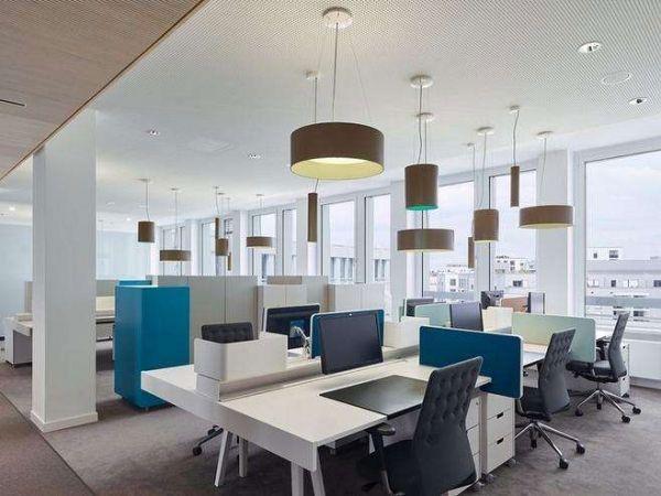 中小型办公室怎样装修显大?