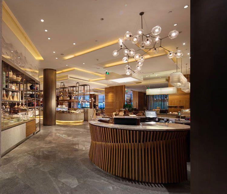酒店茶水区吧台设计