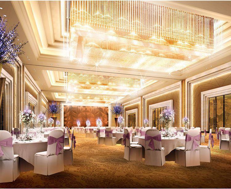 高档星级会议酒店装修宴会厅效果图