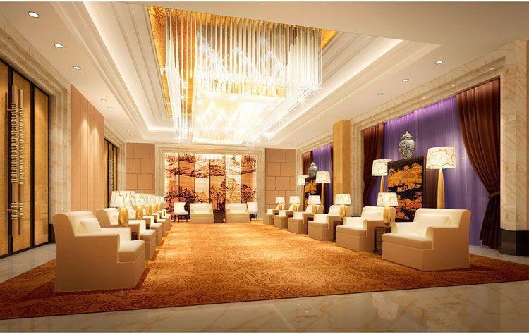 高档星级会议酒店装修接待室效果图