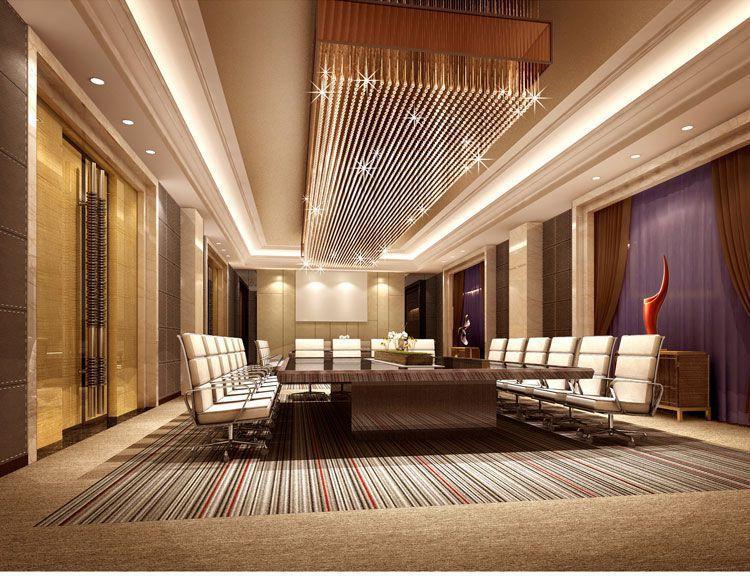 高档星级会议酒店装修会议室效果图