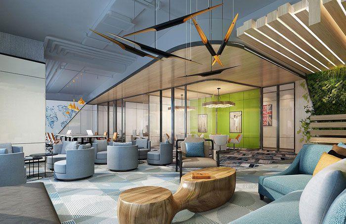 办公室吊顶装饰设计效果图