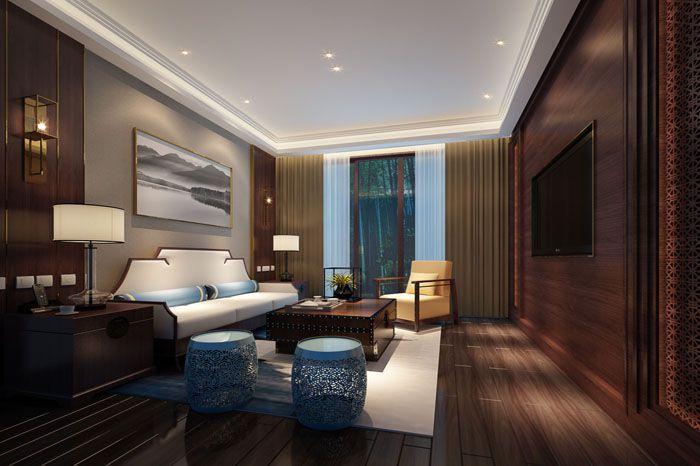 假日度假酒店房间小客厅