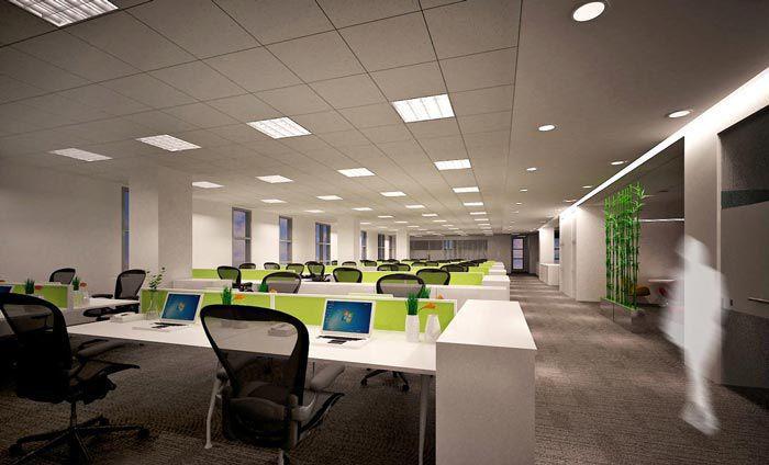 2000平科技办公室装修(效果图)