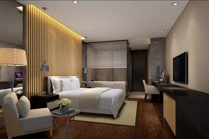 酒店大床房装饰效果