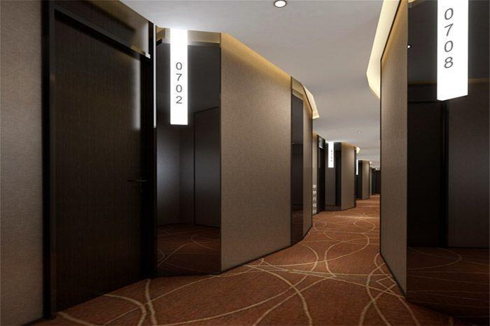 连锁型酒店现代风格装修(效果图)