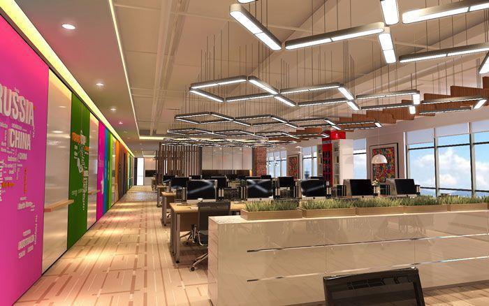 900平方电子商务办公室装修设计