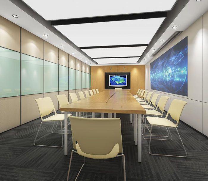办公室简单型长桌会议设计
