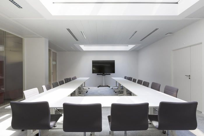 办公室会议室U型桌设计