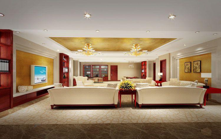 酒店套房客厅效果图