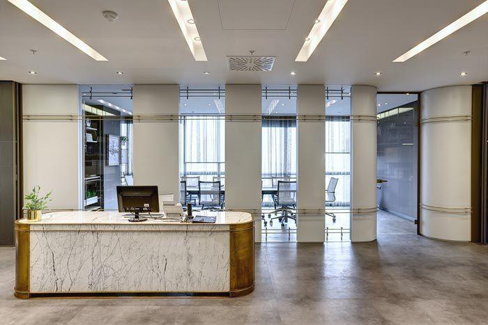 法律咨询中心办公室前台设计