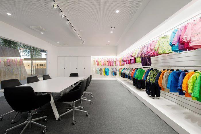 童装设计办公室展示区域