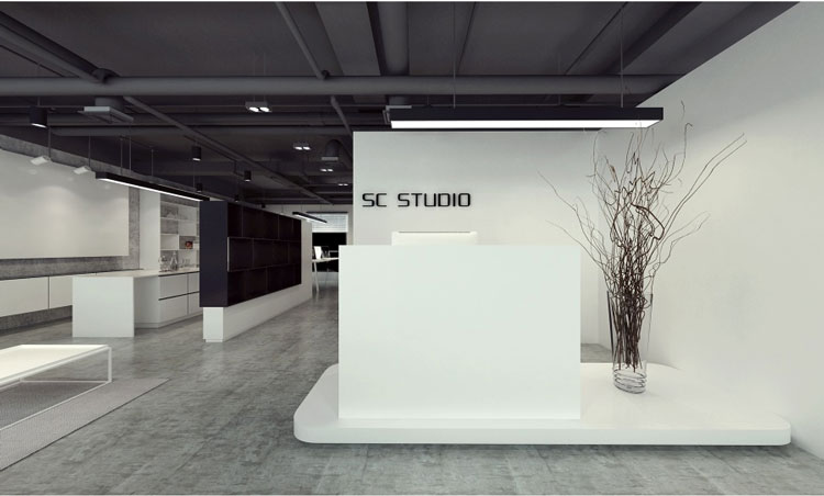 简约风格办公室前台设计