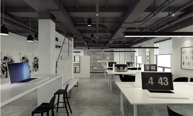 简约风格办公室功能区域划分