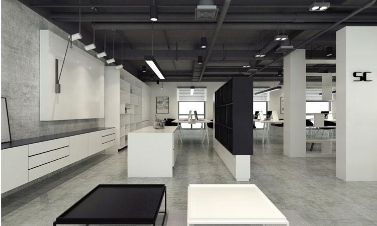 黑白风格办公室简约设计装修(图)