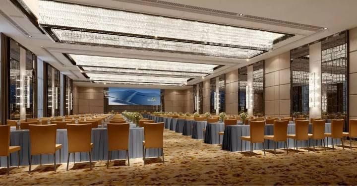 酒店宴会厅大型会议效果图
