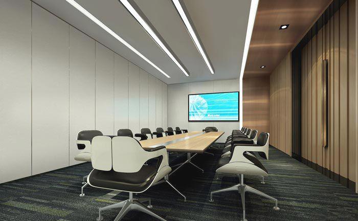 公司大型会议室效果图
