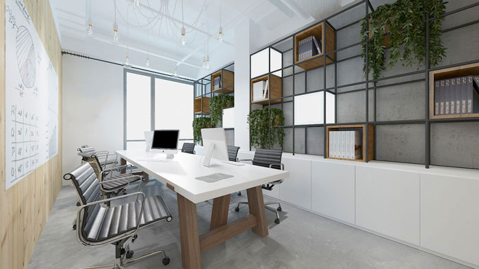 公司小型会议室效果图