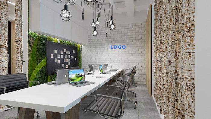 电子商务办公室450平方米装修(效果图)