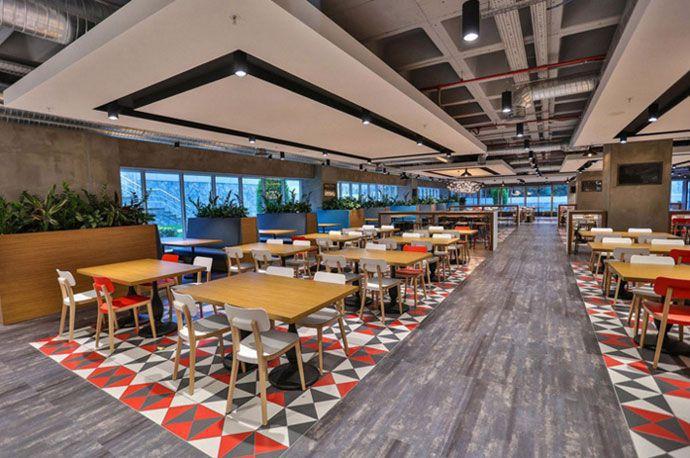 办公楼餐厅区域装修设计效果图