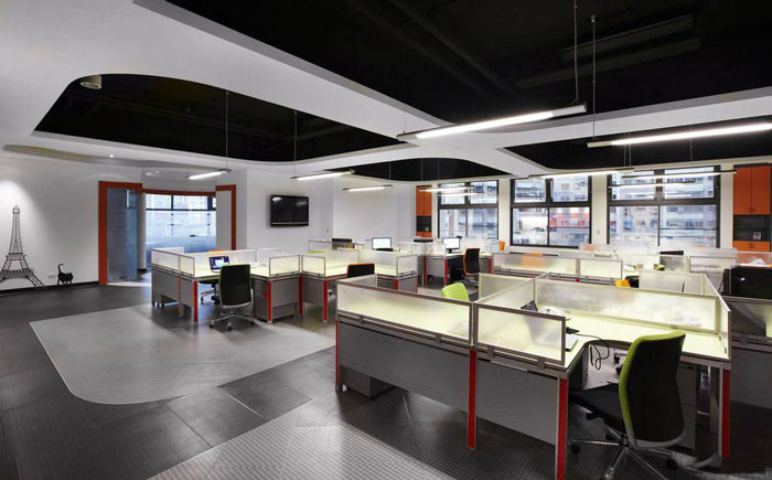 现代简约办公室装修设计