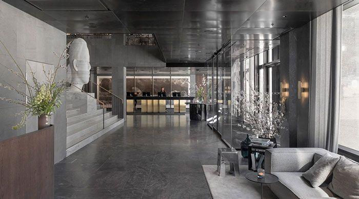 精品商务酒店装修前台设计