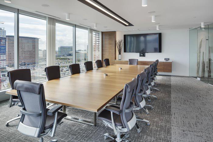 成都金融投资公司装修会议室