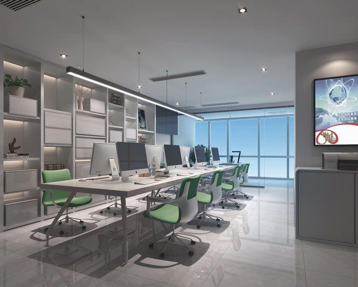 青年创业小型办公室装修效果图