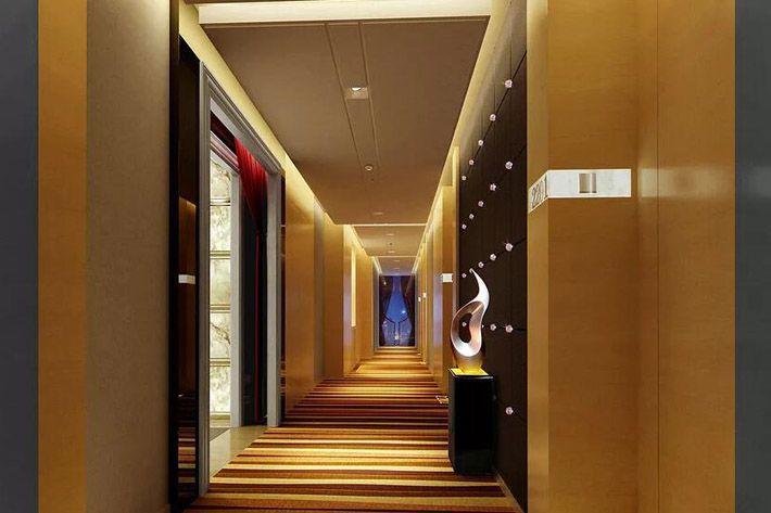 成都四星级酒店装修客房走廊效果图