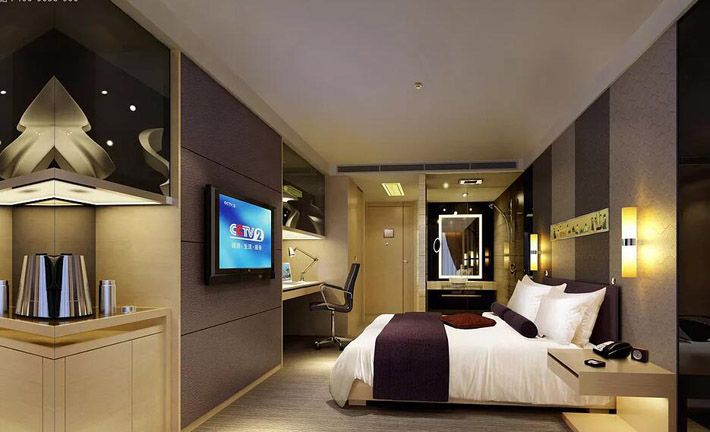 成都四星级酒店装修客房效果图