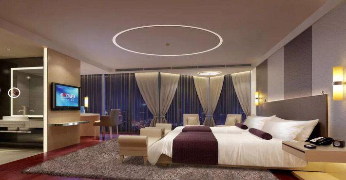 成都四星级酒店装修豪华客房效果图