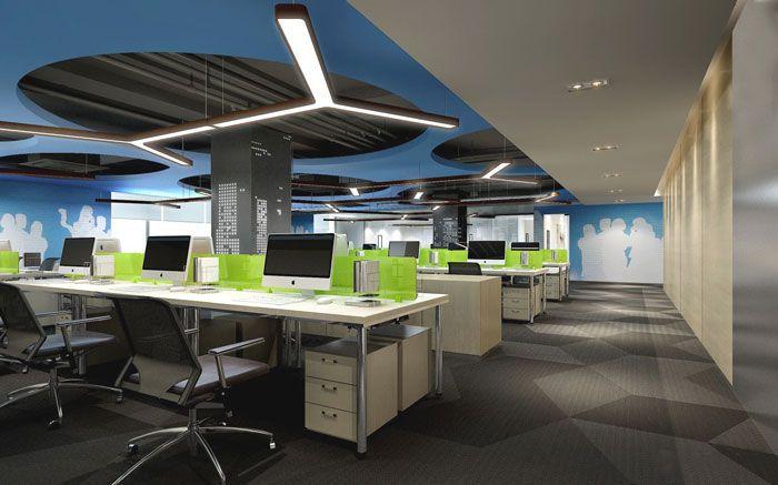 成都办公室装修办公区域参考图