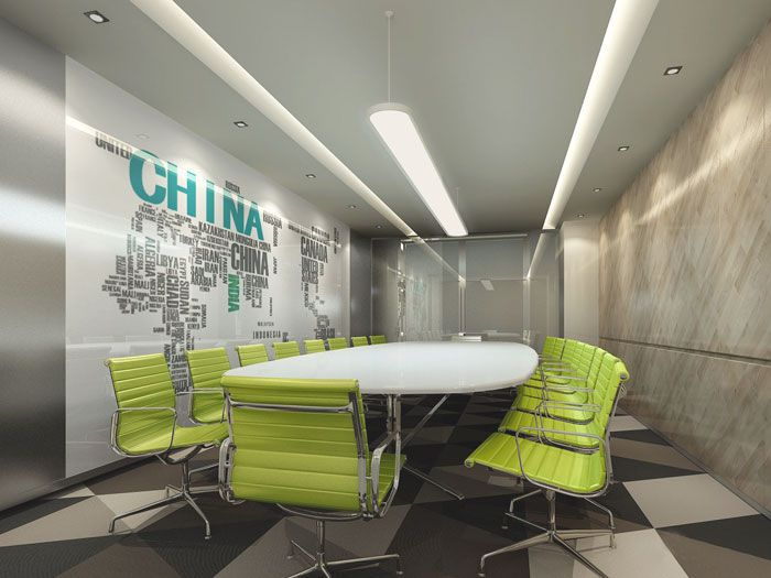 成都办公室装修会议室设计参考图