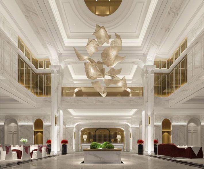 高端酒店装修效果图室内空间