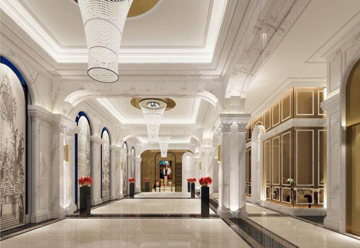 高端酒店装修效果图走廊