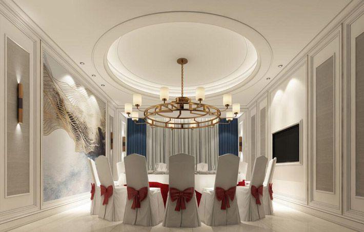 高端酒店装修效果图用餐包房