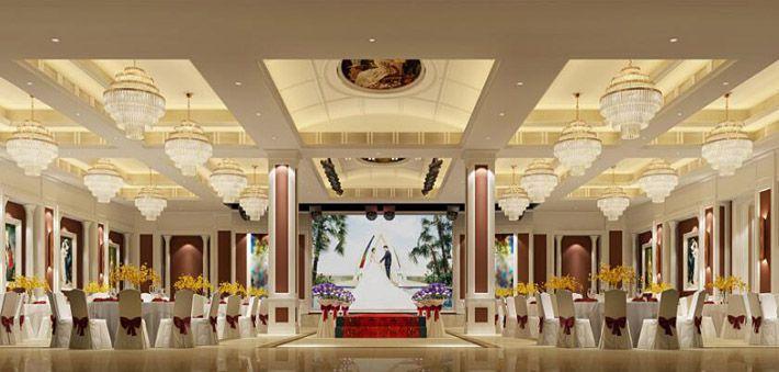 高端酒店装修效果图宴会空间