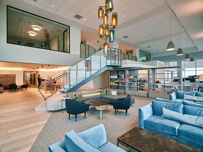 现代风格办公空间装修图