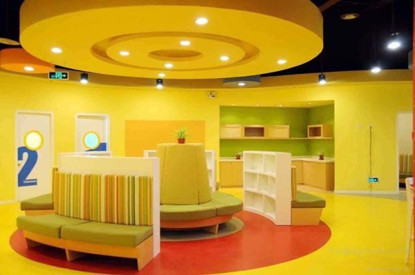 办公室装修pvc地板铺装效果图