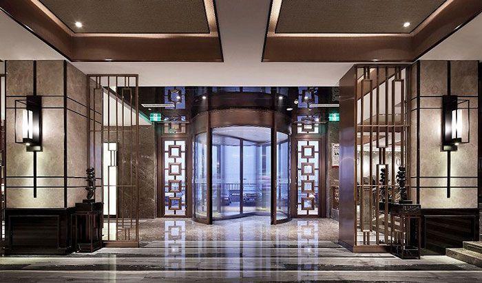 酒店旋转门设计