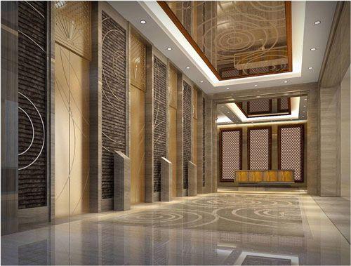 成都酒店电梯厅装修设计