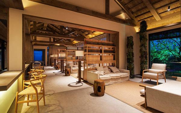 新中式酒店休闲区装修效果图