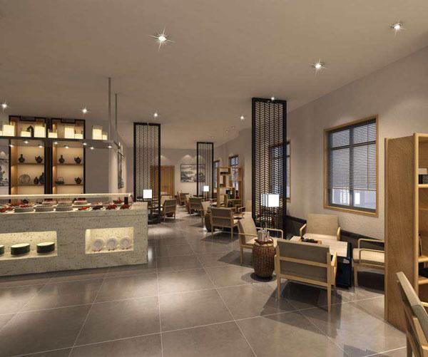 新中式酒店咖啡厅、茶水吧