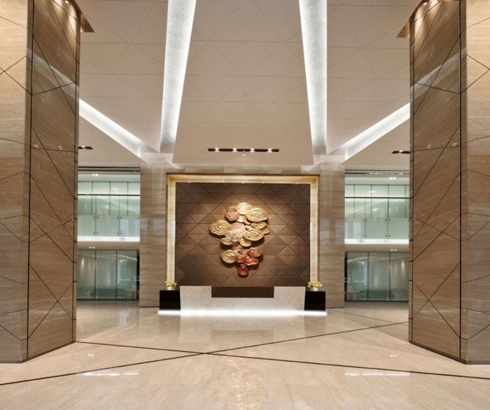 现代商务会议酒店装修前台