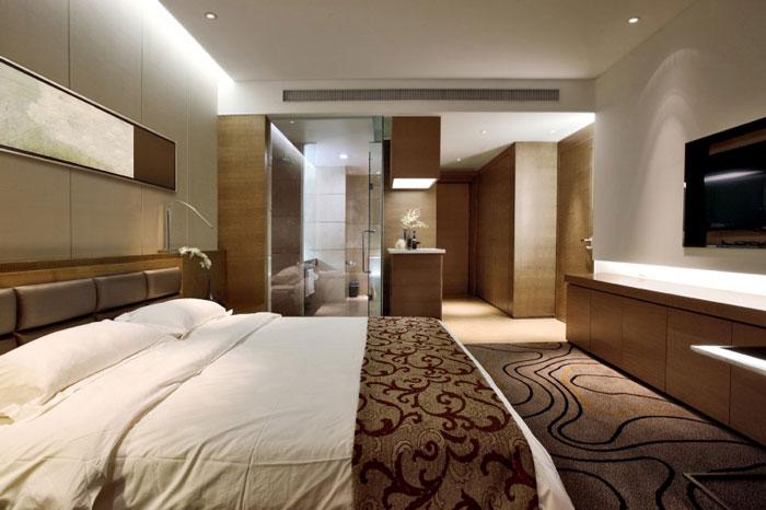 现代商务会议酒店装修大床房