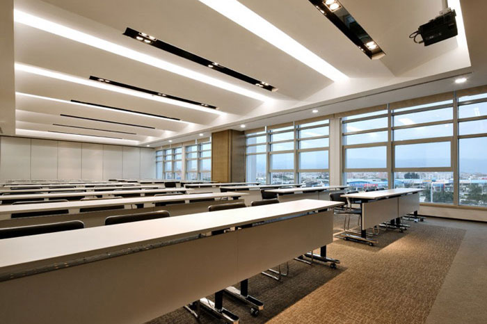 现代商务会议酒店装修会议室空间