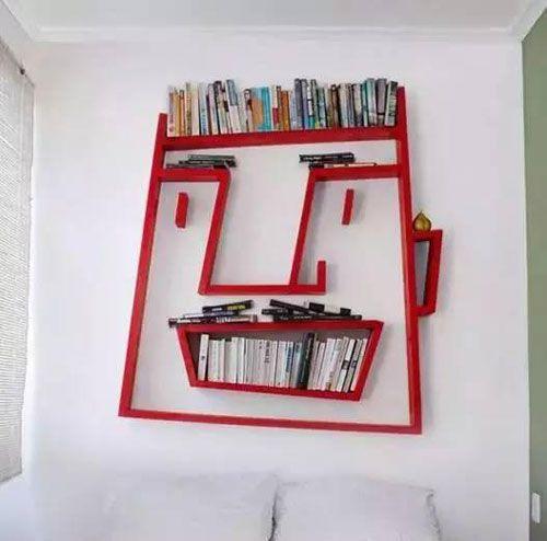 个性办公室书柜摆放设计